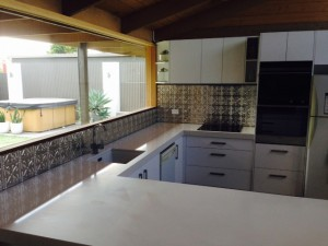 'Wellington' kitchen splashback after